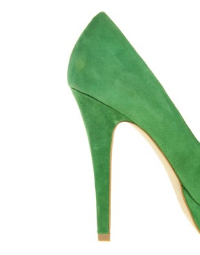 Image 3 ofASOS POPPET Platform Suede Court Shoes