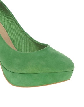 Image 4 ofASOS POPPET Platform Suede Court Shoes