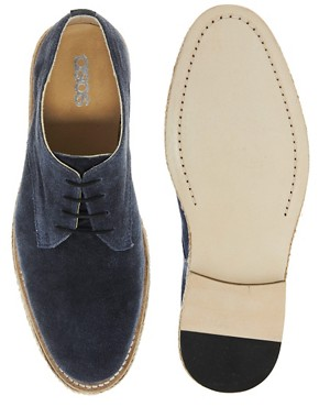 Image 3 ofASOS Leather Sole Derby Shoes With Jute Insert