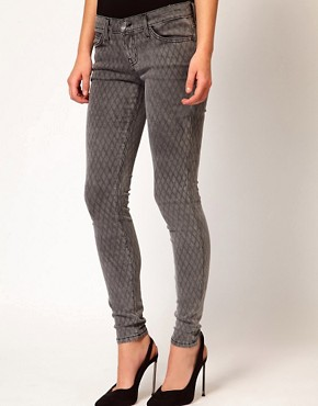 Image 1 ofCurrent/ Elliot Ankle Skinny In Fishnet Print
