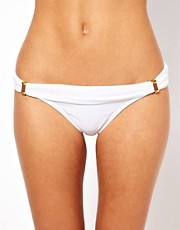 Vix Solid White Tube Full Bikini Pant
