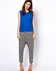 BZR Cotton Striped Trousers