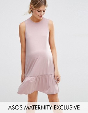 ASOS Maternity Shift Dress With Peplum Hem