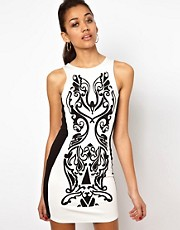 River Island Caviar Beaded Bodycon Dress