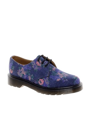 Image 1 ofDr Martens 1461 Floral 3 Eye Shoes