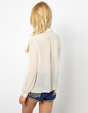 Image 2 ofRiver Island Fringed Western Shirt