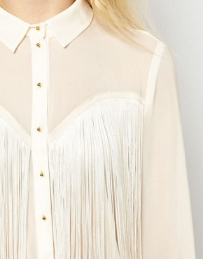 Image 3 ofRiver Island Fringed Western Shirt