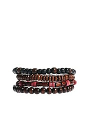 River Island Beaded Bracelet Pack