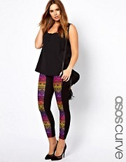 ASOS CURVE Exclusive Legging With Rainbow Aztec Panel