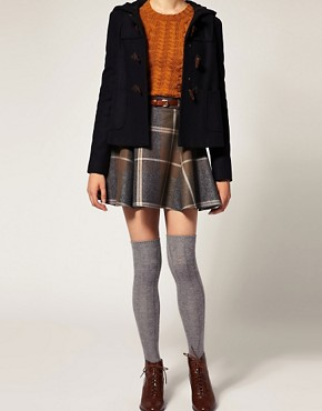 Image 1 ofASOS Long Ribbed Angora Mix Over The Knee Socks