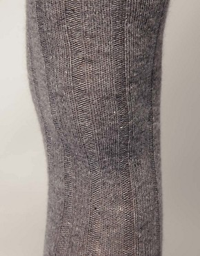 Image 2 ofASOS Long Ribbed Angora Mix Over The Knee Socks