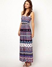 Warehouse Masai Print Maxi Dress