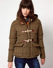 Penfield Landis Tweed Down Filled Toggle Jacket