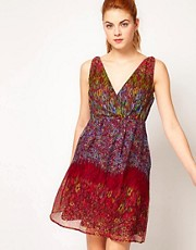 Vila Floral Print Dress