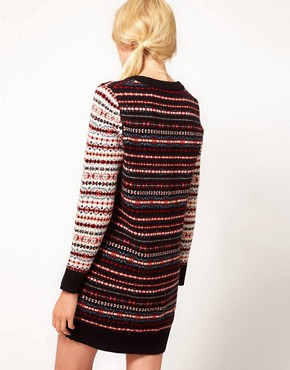 Image 2 ofYMC Fairisle Knitted Dress