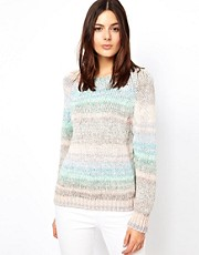Vanessa Bruno Ath  Pullover aus Baumwollstrick in Pastellfarben mit Spacedye-Effekt