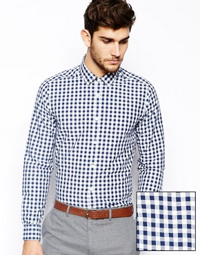 ASOS Smart Shirt In Long Sleeve With Large Gingham Check
