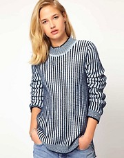 Mih Jeans  Gerippter Pullover