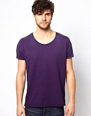 Scotch &amp; Soda T-Shirt With Scoop Neck In Slub Cotton
