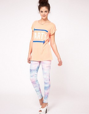 Image 1 ofRiver Island Tye Dye Legging
