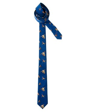 Image 1 ofASOS Bird Print Tie