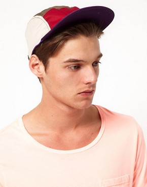 Image 3 of ASOS 5 Panel Cap with Contrast Peak