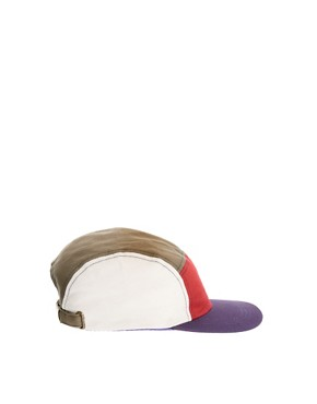 Image 4 of ASOS 5 Panel Cap with Contrast Peak