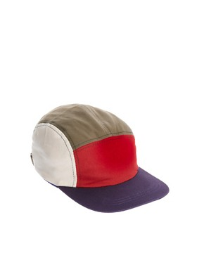 Image 1 ofASOS 5 Panel Cap with Contrast Peak