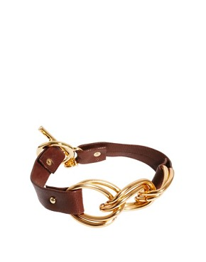 Image 1 ofGorjana Leather Chain Link Bracelet