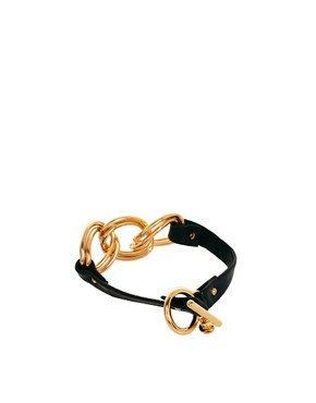 Image 2 ofGorjana Leather Chain Link Bracelet