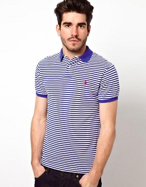 Image 1 ofPolo Ralph Lauren Polo in Slim Fit Stripe