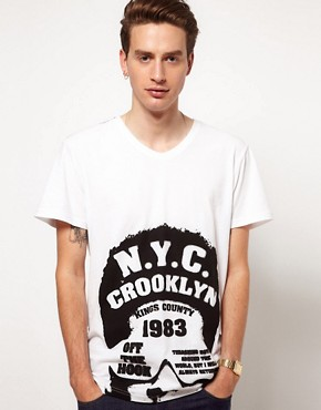 Image 1 ofSolid T-Shirt with NYC Print