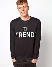 ASOS Trendi Printed Crew Neck Sweat