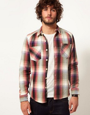 Image 1 ofASOS Blanket Check Overshirt