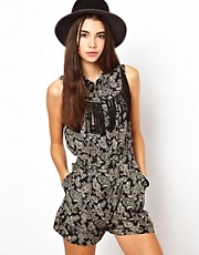 ASOS Paisley Playsuit with Festival Fringing