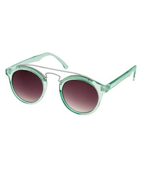 Image 1 ofASOS Round Sunglasses With Metal Bridge Detail