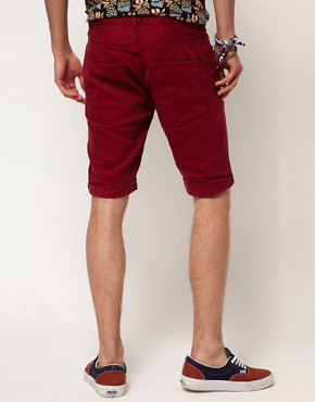 Image 2 ofRiver Island Red Denim Shorts