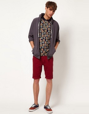 Image 4 ofRiver Island Red Denim Shorts
