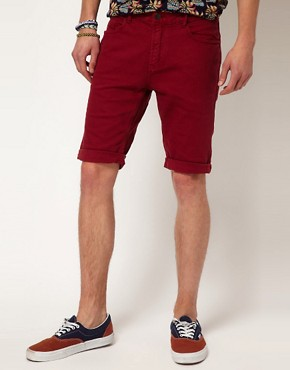Image 1 ofRiver Island Red Denim Shorts