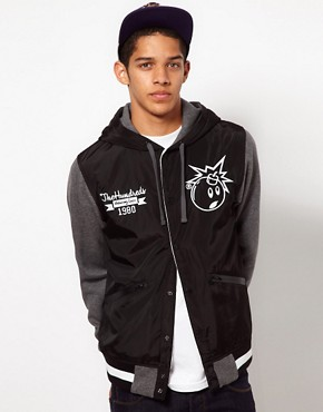 Image 1 ofThe Hundreds Unloaded Varsity Jacket