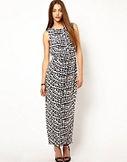 Whistles Safari Leopard Print Maxi Dress