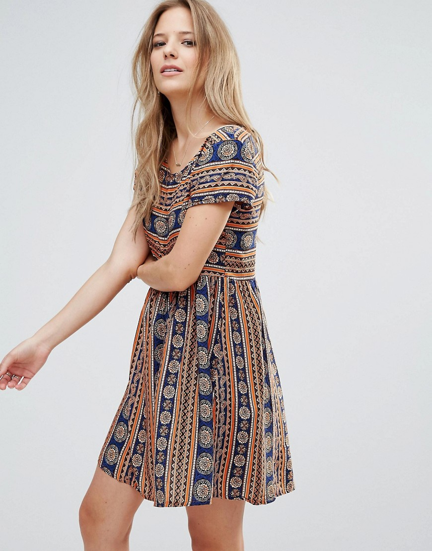 Brave Soul Printed Smock Dress - Multi