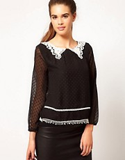 River Island Chelsea Girl Lace Collar Blouse