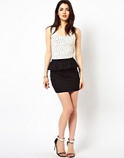 Oh My Love Peplum Skirt