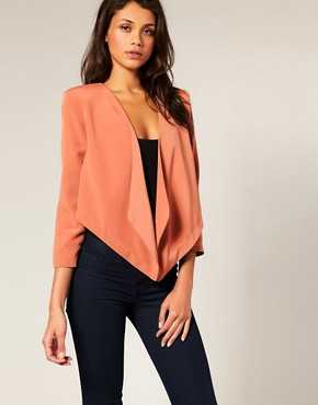 Image 1 ofASOS Tailored Draped Suit Jacket