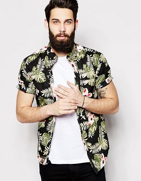 Only & Sons Short Sleeve Shirt with All Over Hawain Print