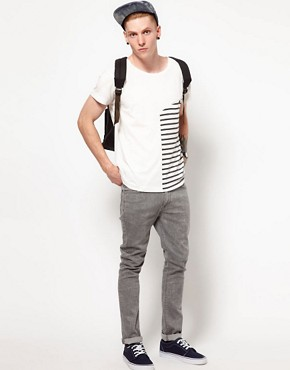 Image 4 ofTwo Square T-Shirt With Contrast Stripe Panel