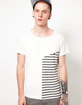 Image 1 ofTwo Square T-Shirt With Contrast Stripe Panel