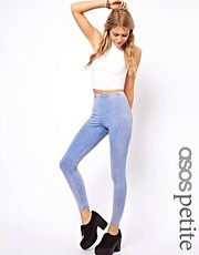 ASOS PETITE Exclusive Leggings In Acid Wash