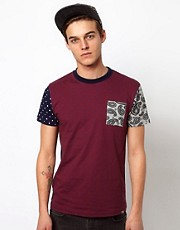 Bellfield T-Shirt With Contrast Panel